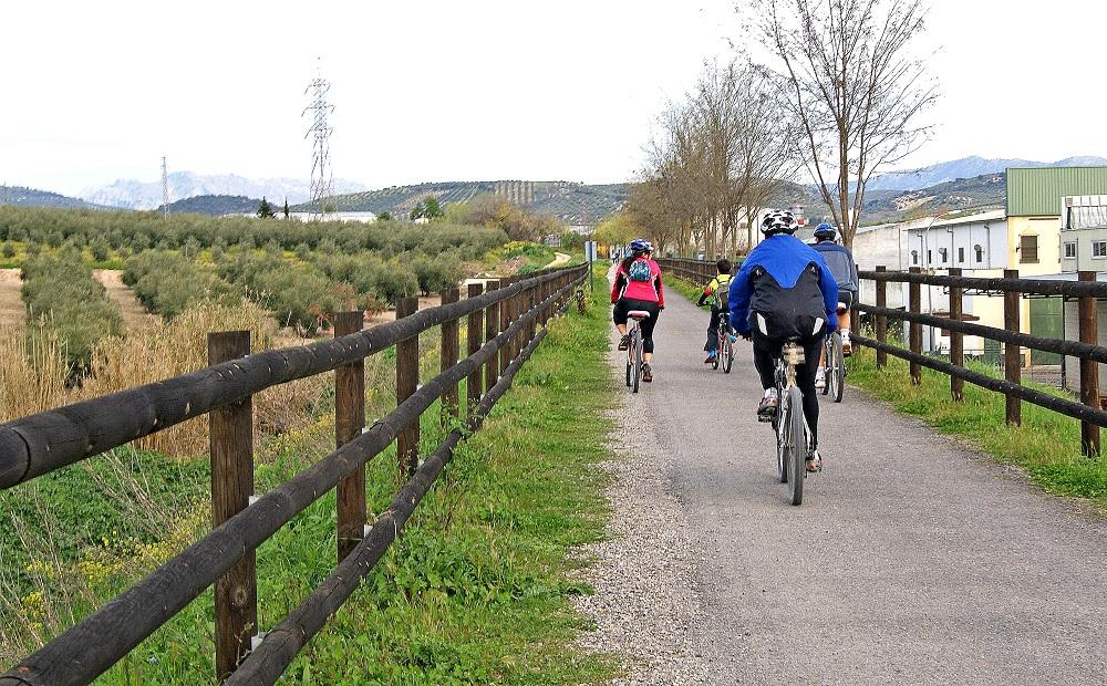 Vía Verde de la Subbética paseo en bicicleta