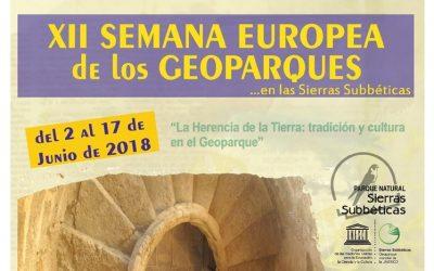 La Herencia de la Tierra: XII Semana Europea de los Geoparques en las Sierras Subbéticas
