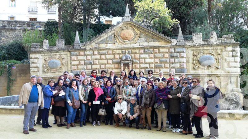 Grupo de visitantes en Priego de Córdoba