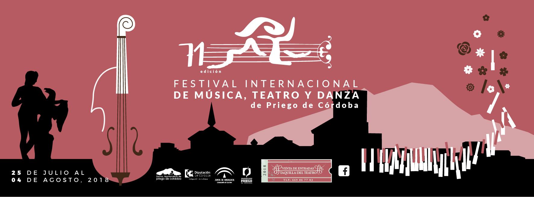 Banner del Festival Internacional de Música, Teatro y Danza de Priego de Córdoba