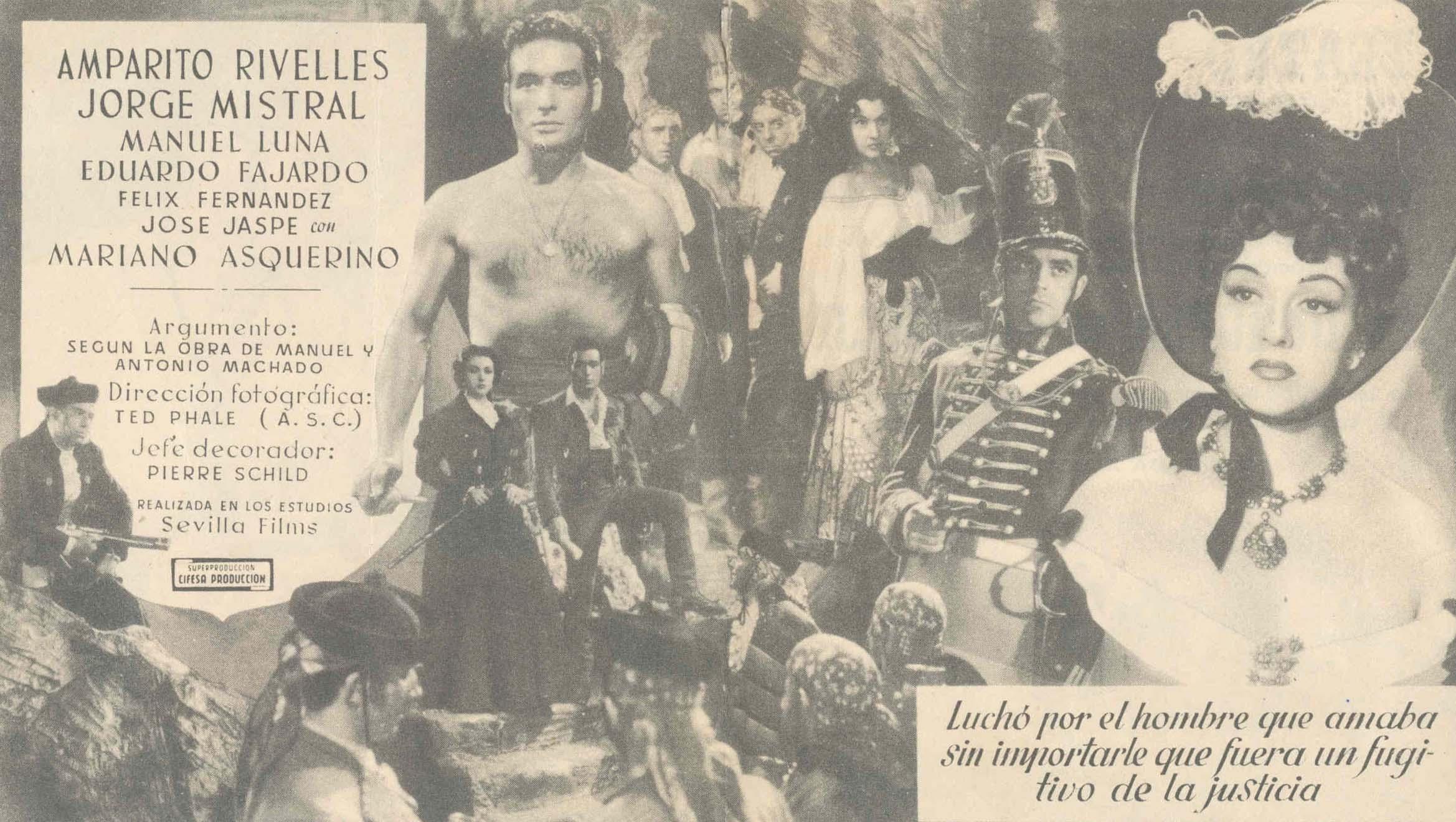 Cartel del estreno de La Duquesa de Benamejí