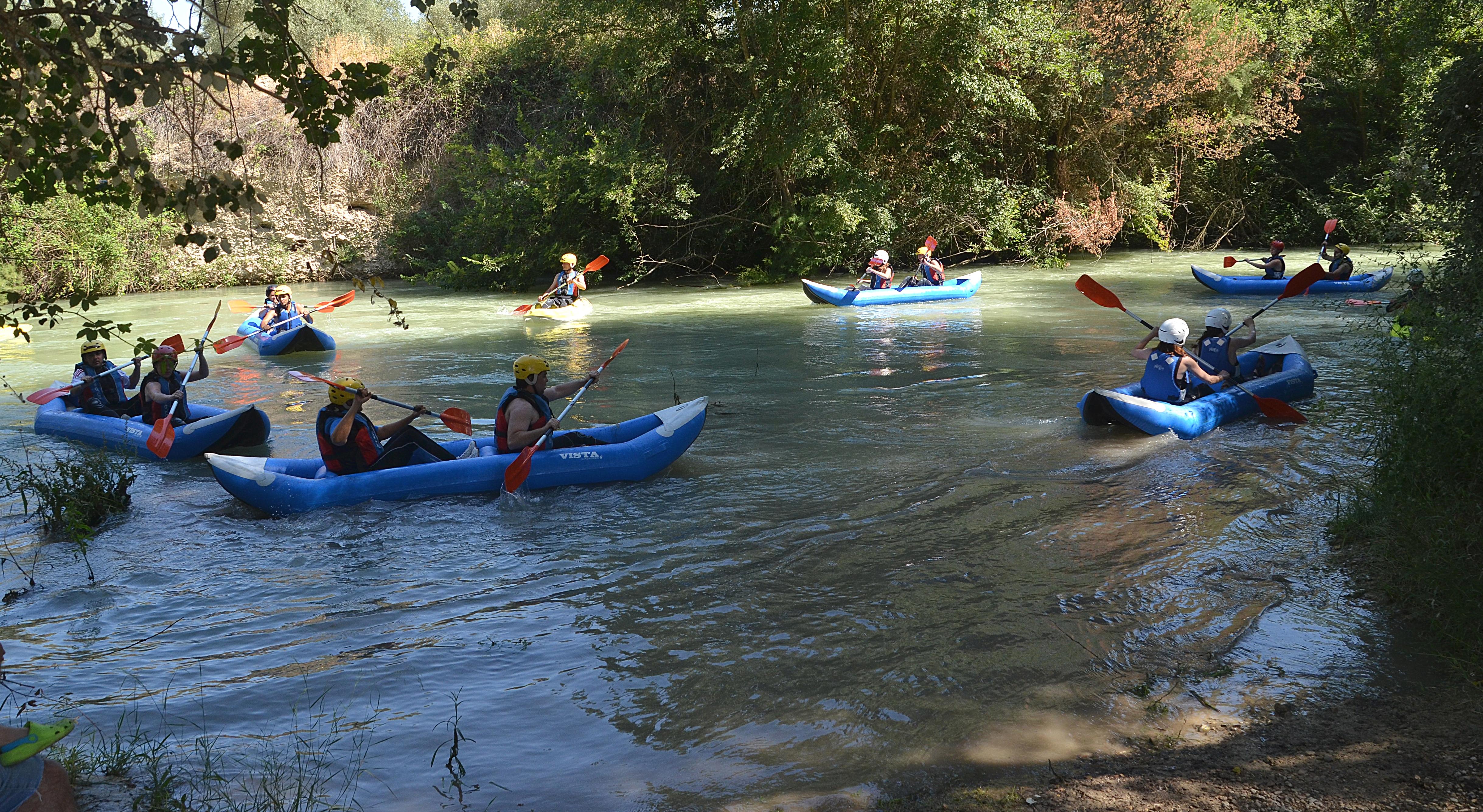 Kayak en el río Genil