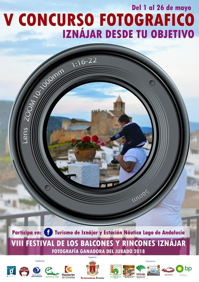 Cartel Anunciador del V Concurso Fotográfico de Iznájar