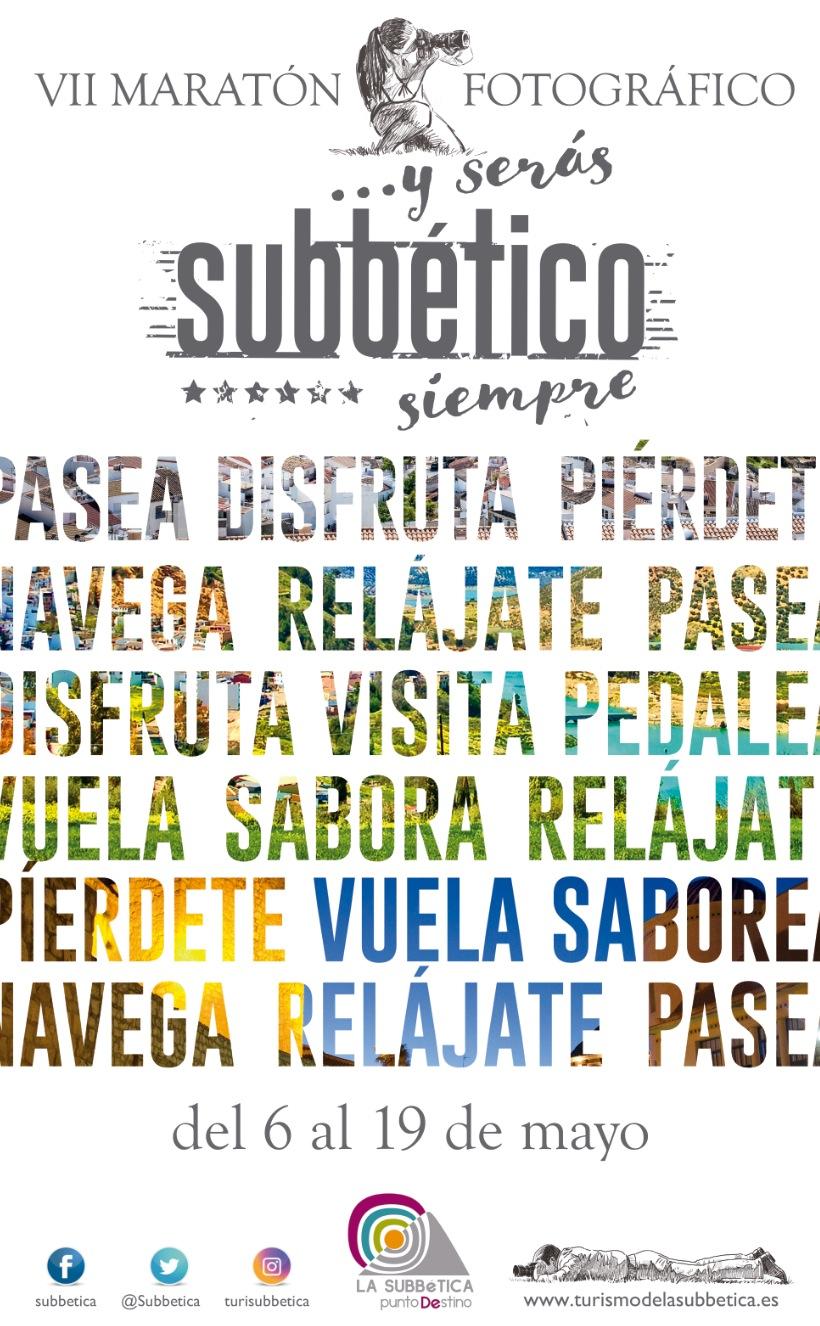 Cartel anunciador del VII Maratón Fotográfico de la Subbética