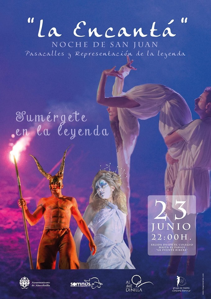 Cartel anunciador de La Encantá en Almedinilla