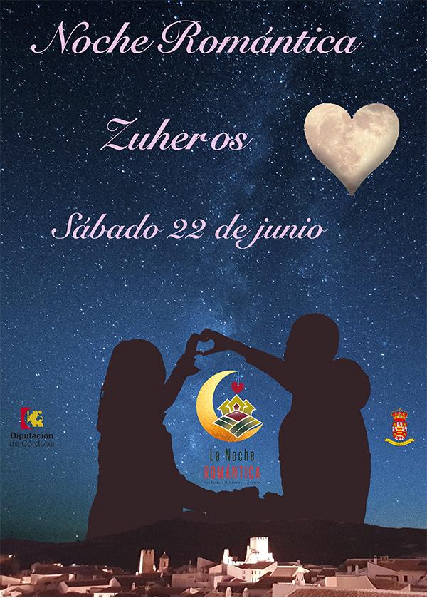 Cartel anunciador de la Noche Romántica en Zuheros