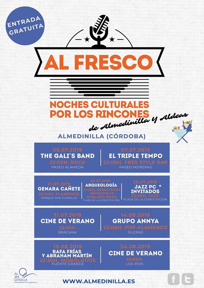 Cartel anunciador de Al Fresco en Almedinilla