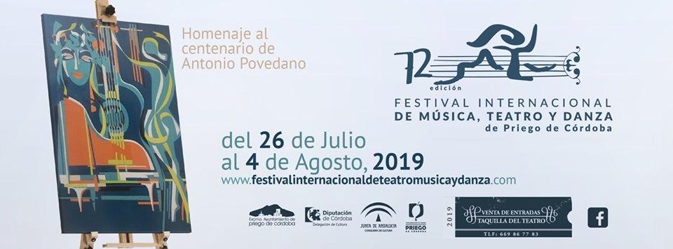 72º Festival Internacional de Música, Teatro y Danza de Priego de Córdoba