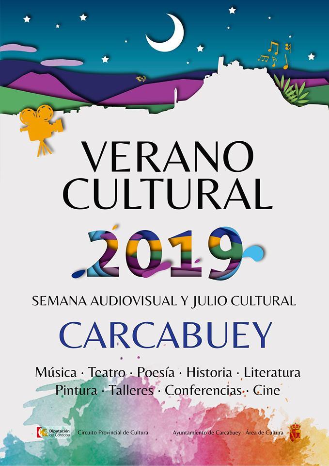 Cartel anunciador del Verano Cultural en Carcabuey